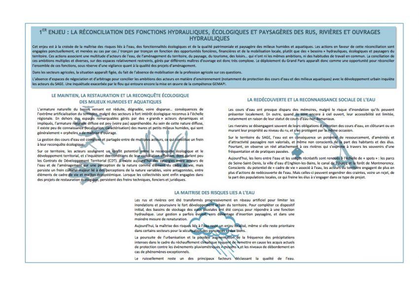 Le premier enjeu intégrateur du SAGE CEVM : La réconciliation des fonctions hydrauliques, écologiques et paysagère des rus, rivières et ouvrages hydrauliques