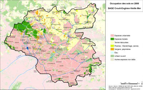 Occupation des sols en 2008