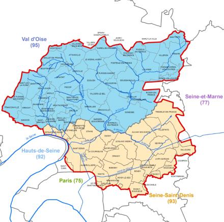 Le périmètre du SAGE Croult Enghien