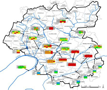 Carte de synthèse de la qualité des eaux superficielles