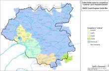Carte des collectivités ayant la compétence collecte pour l'assainissement