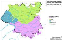 Carte des collectivités ayant la compétence transport pour l'assainissement