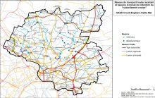 Carte du réseau routier existant et des bassins de rétention du ruissellement routier
