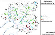 Carte des bassins de rétention