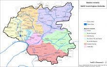 Carte des bassins versants
