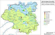 Carte de l'âge des captages d'eau potable