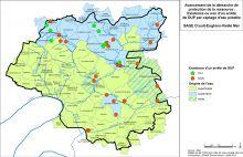 Carte des Déclarations d'Utilité Publique (DUP) des captages d'eau potable