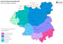 Carte de l'intercommunalité en 2016