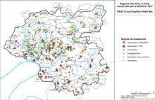Carte du régime des ICPE et ICPE concerné par la directive IED