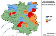 Carte des indices linéaires de perte des réseaux de distribution d'eau