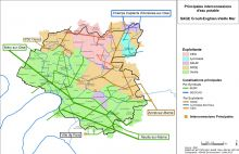 Carte des principales interconnexions d'eau potable