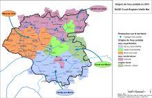 Carte de l'origine de l'eau potable en 2013