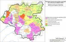 Carte de l'orientation technico-économique des communes du SAGE en 2010