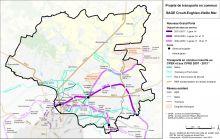 Carte des projets de transport en commun
