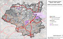 Carte des réseaux de transport routier, férré et aérien existants