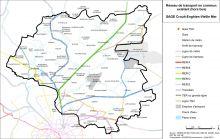 Carte des réseaux de transport en commun existants