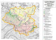 Carte du SRCE d'Ile de France appliqué au SAGE CEVM