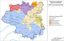 Carte des structures en charge de la gestion de l'eau potable