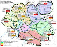 Carte de synthèse des principales anomalies d'assainissement par grands secteurs